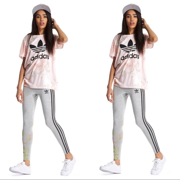 the sale of shoes store wide varieties ADIDAS PASTEL ROSE SHIRT & MATCHING LEGGINGS SET